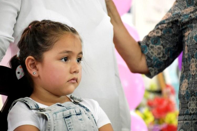 Helen, a five-year-old from Honduras