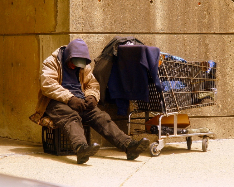 Homeless Man in the United States