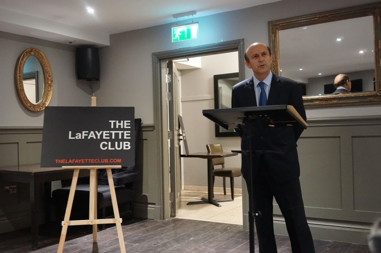 Noel Lateef at The Lafayette Club's evening