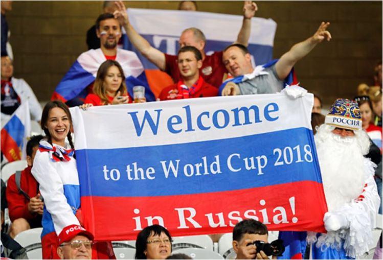 Russian fans, FIFA 2018